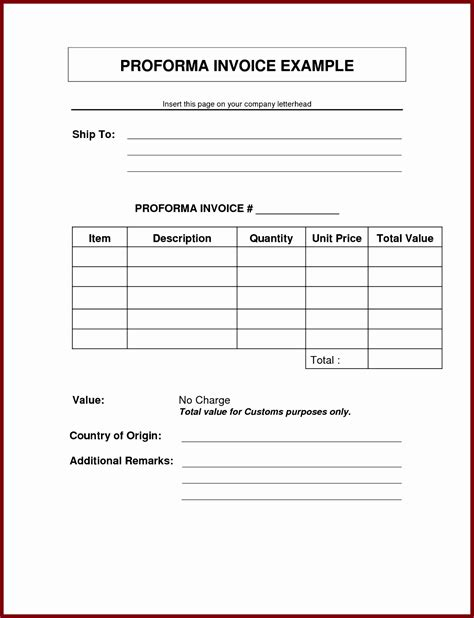 proforma receipt template 10 sle proforma invoice excel template exceltemplates