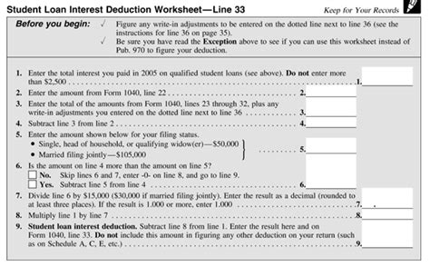 Home Loan Interest Deduction Section by Student Loan Interest Deduction Worksheet Line 26