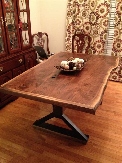 live edge dining room table made live edge dining room table by southern wood