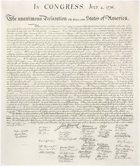 full text of the declaration of independence abc news
