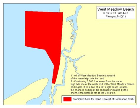 crab meadow weather tide predictions closed horseshoe crab areas nys dept of environmental