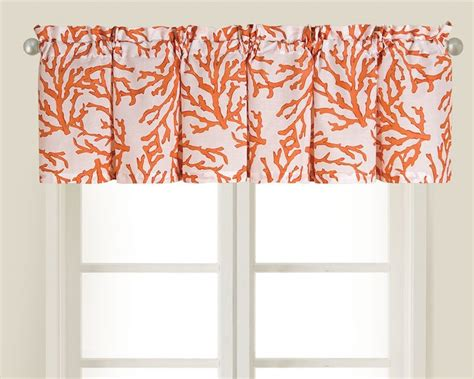Coral Valance Curtains Coral Kitchen Valance C O R A L Pinterest Valances Coral And Islands