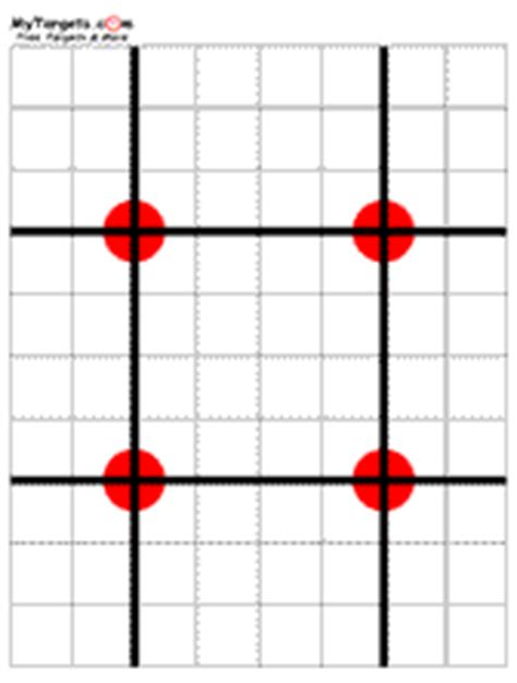 printable targets to aid with zeroing your hws frank proctor s 50 yard zero at 10 yards jerking the trigger