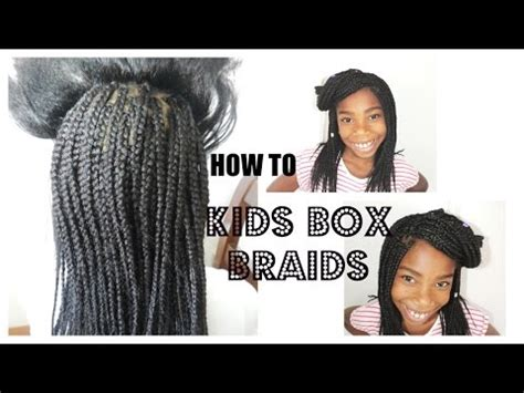back to school hairstyles with box braids kids box braids back to school hairstyle youtube