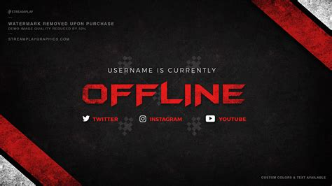 Twitch Profile Banner Templates Premade Offline Image Twitch Header Template
