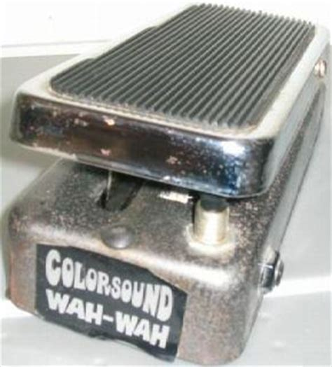 wah inductorless colorsound wah wah effects database