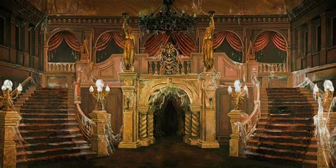 mansion foyer haunted mansion foyer b scenic stage backdrop rental