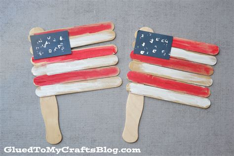 kid crafts with popsicle sticks popsicle stick flags kid craft