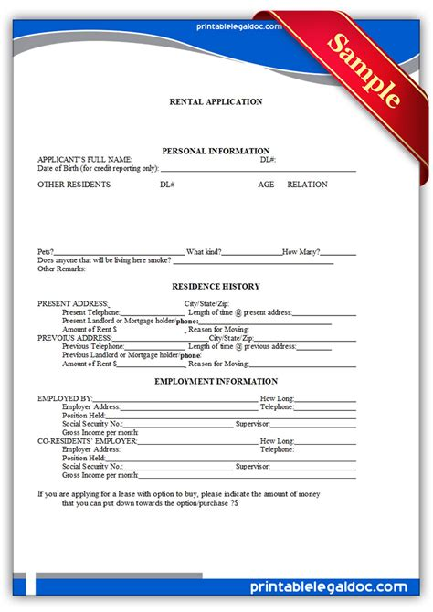 free printable residential lease agreement free california