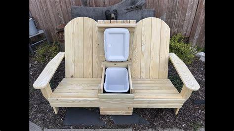 adirondack cooler bench youtube