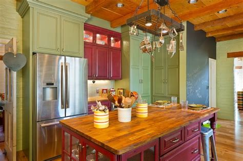 colourful kitchen cabinets creative ways to use color in your dull kitchen
