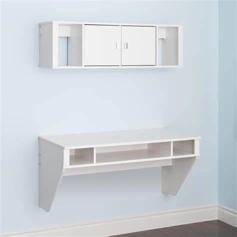 Designer Floating Desk by Prepac Designer Floating Desk Hutch Set In White Ebay