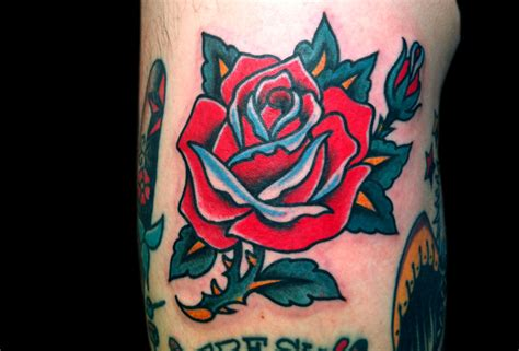 rose old school tattoo school wallpaper