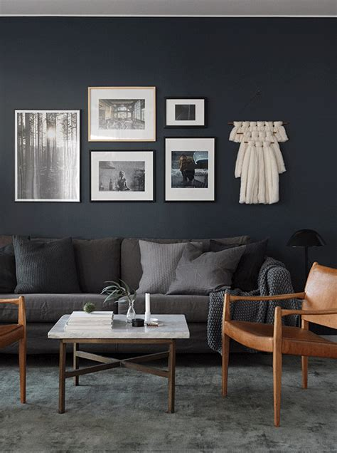 dark grey walls over to the dark side in a swedish space my scandinavian