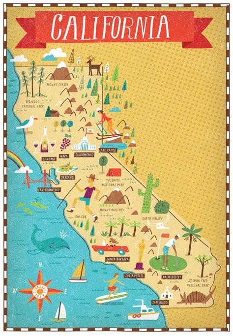 maps of california state attractions pictures to pin on
