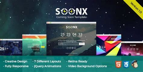 themeforest coming soon themeforest soonx v1 0 coming soon template 15939563