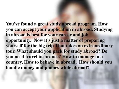 ppt things students should do before studying abroad