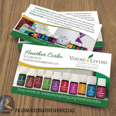 young living tagged business cards kz swag shop
