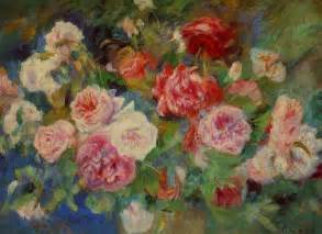 Kind Of Flowers Names - roses c 1885 pierre auguste renoir wikiart org
