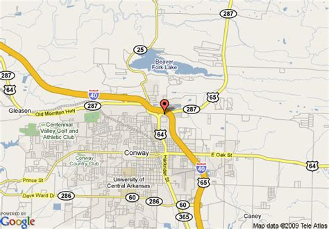 us map conway arkansas map of microtel inn and suites conway conway