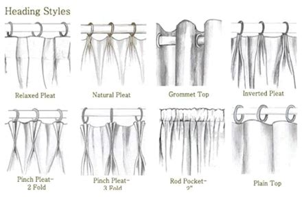 curtain hanging styles choosing a drapery heading