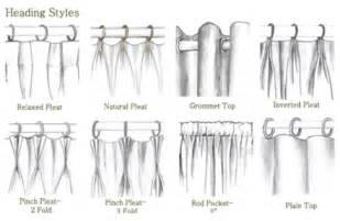 curtain top types choosing a drapery heading