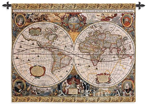 map tapestry antique map wall tapestry h53 quot x w67 quot