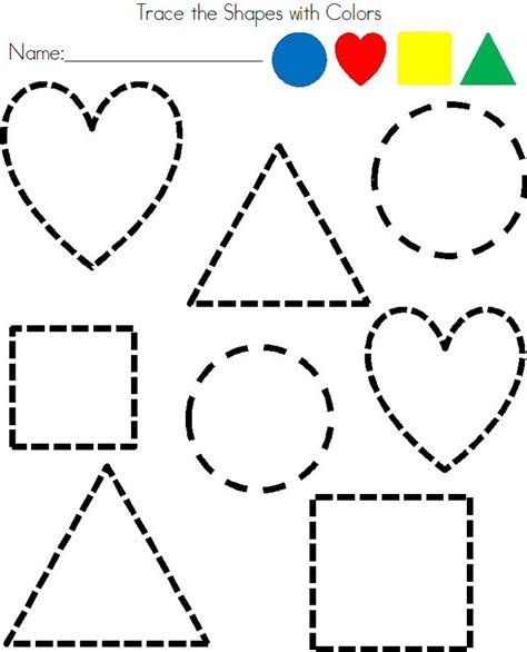 shape pattern activities early years pre k shapes worksheets to print loving printable