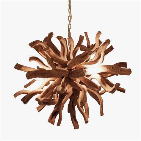 kronleuchter treibholz large driftwood inferno chandelier by cowshed