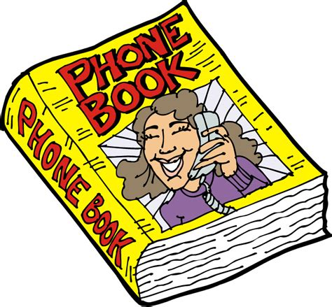 phone book picture free yellow telephone cliparts free clip