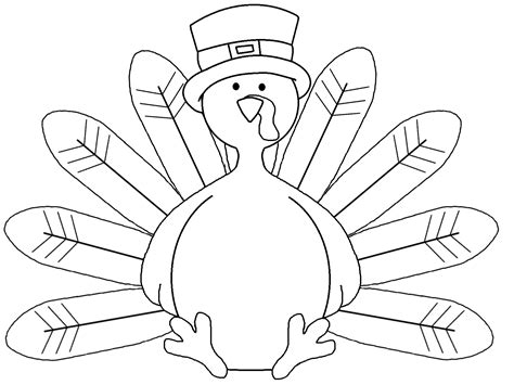 blank turkey template graphics by ruth thanksgiving
