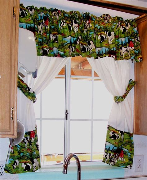 cow curtains how to make curtains to perfectly match your kitchen decor