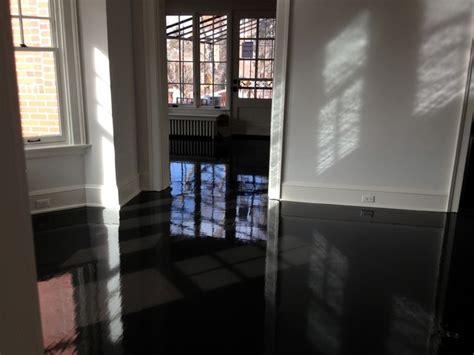 High Gloss Black Oak Floors   Contemporary   Denver   by T
