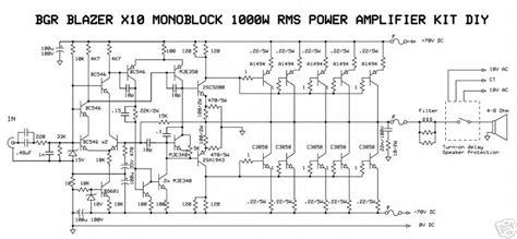 monoblock wiring diagram 1000w monoblock power lifier el circuit diagram