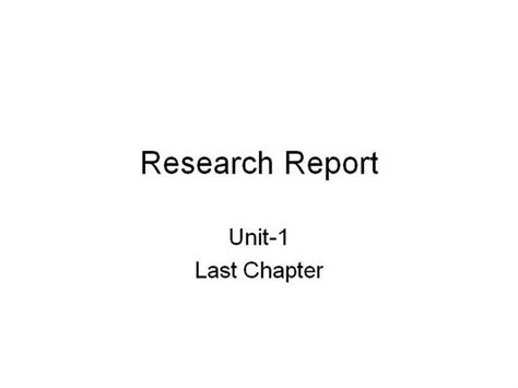 Report Writing Ppt by Research Report Writing Authorstream