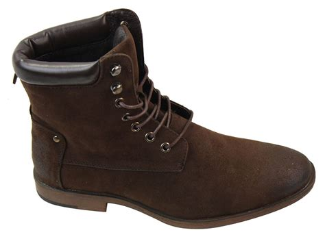 Kickers Casual Army Brown Suede mens black brown ankle high army rock casual