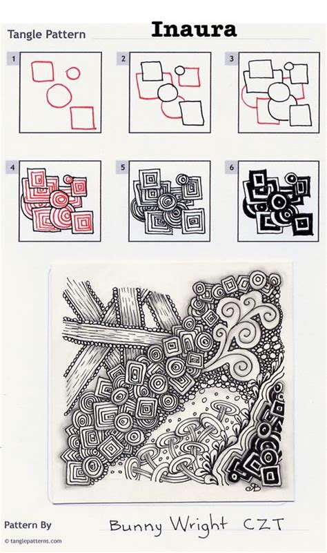 zentangle pattern steps online instructions for drawing czt 174 bunny wright s