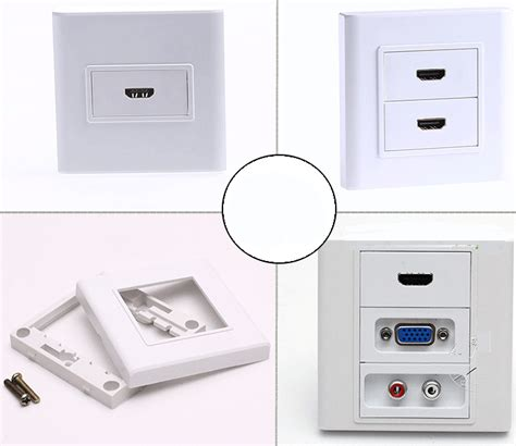 Faceplate Hdmi Panel Oulet Socket Murah vga hdmi audio rca faceplate wall plate outlet terminal