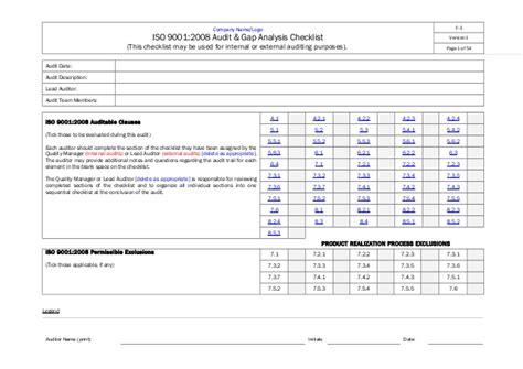 generous iso gap analysis template gallery resume ideas