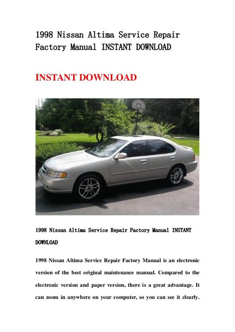 free download parts manuals 1996 nissan altima windshield wipe control 1998 nissan altima service repair factory manual instant download