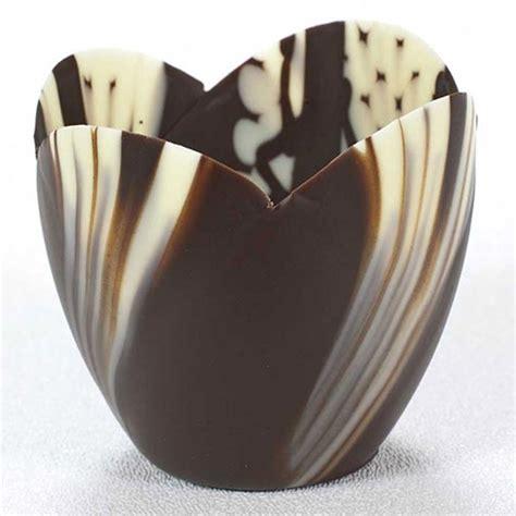Tulip Chocolate Filling 5 Kg chocolate tulip cups for sale chocolate dessert cups