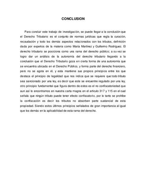 conclusion de impuestos estatales y municipales ensayos y trabajo derecho tributario