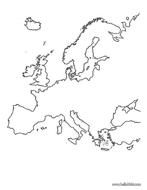 map of europe colouring europe map coloring pages hellokids