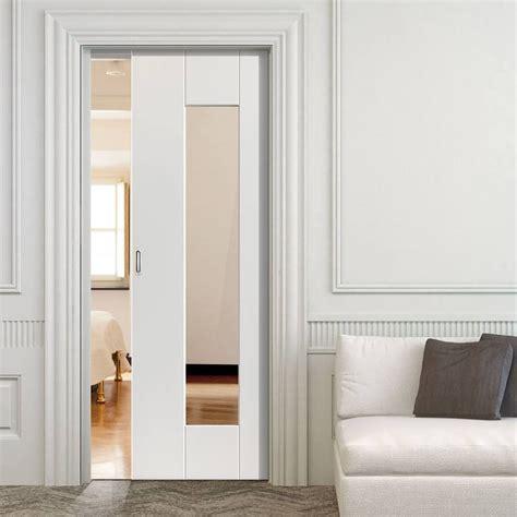 sliding pocket doors symmetry axis white single pocket door clear glass
