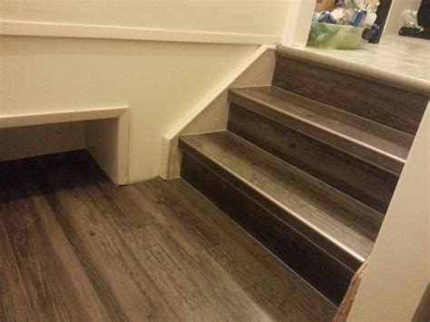 Schluter Rondec on Stair Treads   Tile   Stair Treatments