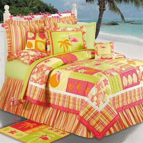 fun comforters flamingo fun tropical bedding beach room pinterest