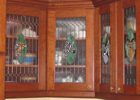 leaded glass kitchen cabinets custom ideas