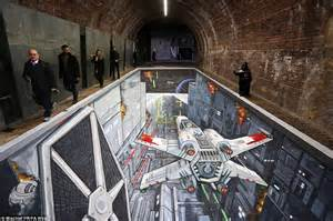 Minecraft Wall Murals classic death star scene from star wars recreated under