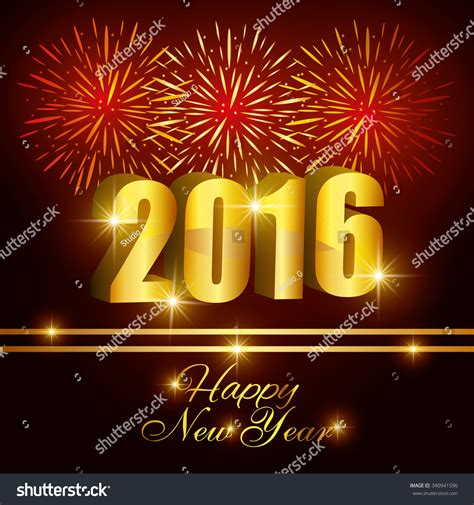 graphic design for new year happy new year 2016 graphic design vector illustration