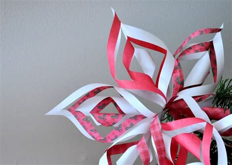fiori natalizi di carta addobbi natalizi fai da te 24 incredibili suggerimenti